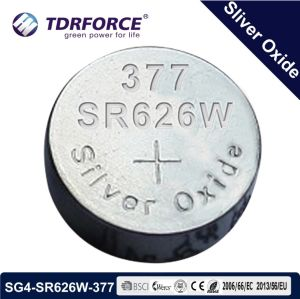 1.55V China Supplier Long Life Silver Oxide Button Cell Battery for Watch (SG4/SR626W)