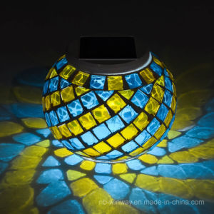Solar Glass Mosaic Night Light Coulorful Changing pictures & photos