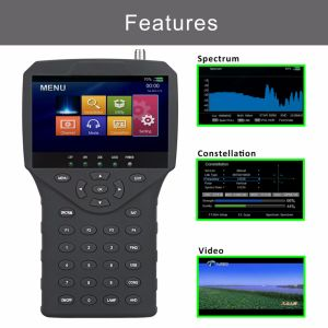 "4.3"" HD Satellite TV Finder with Ahd Tvi Cvi CCTV Camera Video Tester pictures & photos"