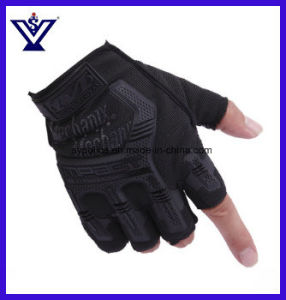 Tactical Combat Half Gloves Outdoor Fitness Antiskid Sports Gloves (SYSG-1852) pictures & photos