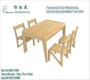 Wooden Table for Kids Available for 4 Kids