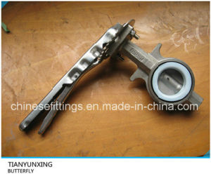 API Lever Operation Wafer Casting Stainless Steel Butterfly Valve pictures & photos