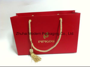 OEM Paper Bag/Shopping Bag/Carrier Bag with Logo Gold Stamping pictures & photos