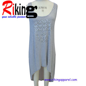 Fashion Ladies Garment Asymmetrical Sequins Dress (RKD1366)