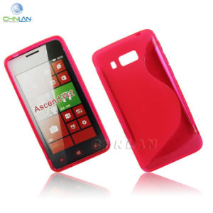 Hot Selling S Line Soft Gel TPU Silicone Back Mobile Phone Case Cover for Huawei Ascend W2