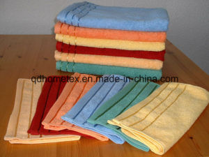 China Solid Color Bath Towel With Stripe Border China Towels