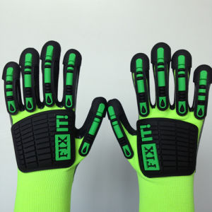 Sandy Nitrile Finished Poly/Spandex Gloves with TPR Sewing