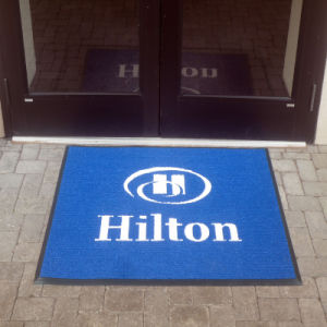 Outdoor Indoor Branding PVC Vinyl Plastic Backed Commerical Business Coprorate Logo Gifts Giveaway Promotion Printed/Print Welcome Entrance Doormats pictures & photos