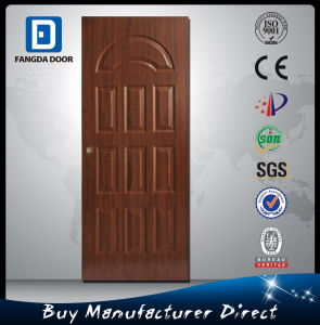 Polan Security Front Door with Wooden Look Door Skin pictures & photos