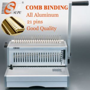 Manual Plastic Comb Binding Machine for Book File Punching Binding (CB300) pictures & photos