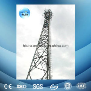 3-Leg Angular Steel Telecommunication Tower with Antenna Support
