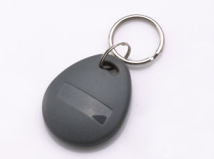 Tag08-Black-125kHz RFID Card Key Tag/Keyfob with Rings for Time Attendance or Access Control