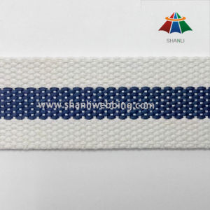 1-1/4 Inch Flat Striped Polyester Cotton Webbing
