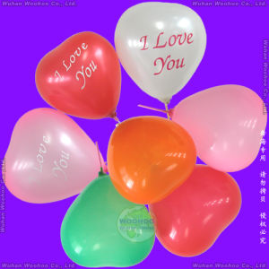 Inflatable Rubber Helium Heart Shape Balloon for Festival Decorations pictures & photos
