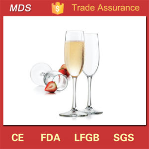 Clear Glass Customized Logo 6oz Champagne Flute Manufacturer pictures & photos