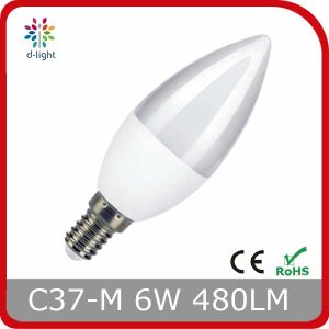 CE Certificate E14 Low Price C35 6W LED Bulb