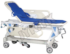 Luxurious Hydraulic Rise-and-Fall Stretcher Cart with Weight Reading pictures & photos
