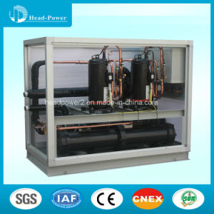 R22 Electric Heater Water Cooled Water Chiller Scroll Central Heat Pump Chiller pictures & photos