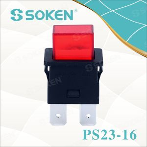 Power Switch Self-Locking/Reset Push Button Switch T125/55 pictures & photos