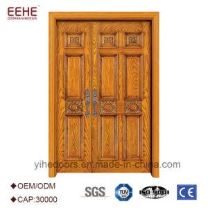 Front Teak Wood Double Door Design Solid Wood Door