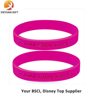 Two Pink Silicone Wristbands Replacement Activity Bracelet Sport Wristband pictures & photos