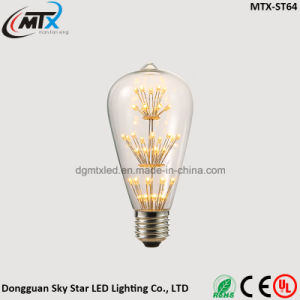 CE UL FCC RoHS Certification Curved ST64 Filament Bulb Lamp pictures & photos