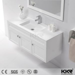 Modern Solid Surface Bathroom Cabinet Wash Basin pictures & photos