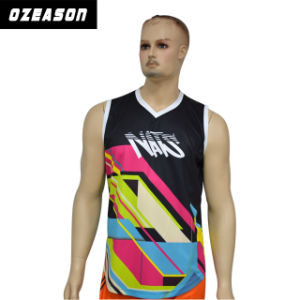 Latest Design Printed Men′s Mesh Gym Tank Top (SL005) pictures & photos