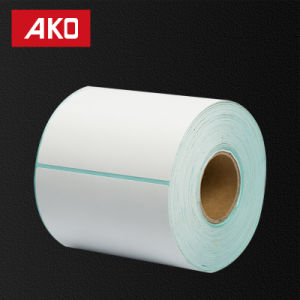 "1""2"" (25.4mm*50.8mm) Thermal Peper Layer Hot Melt Glassine Liner Heat Sensitive Self Adhesive Sticker pictures & photos"
