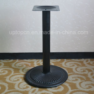 Strong Black Metal Single Leg Round Dining Table Base (SP MTL153)