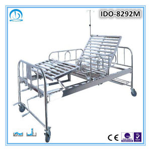 Stainless Steel Hospital Bed with 2 Cranks
