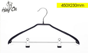 PVC Coated Metal Clothes Hanger with Clips