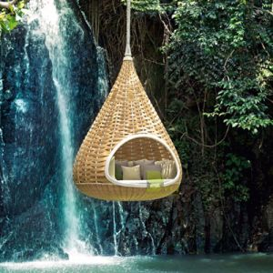 Bird′s Nest Sunshine Lounge Beach Circular Garden Furniture Rattan Sunbed T582 pictures & photos