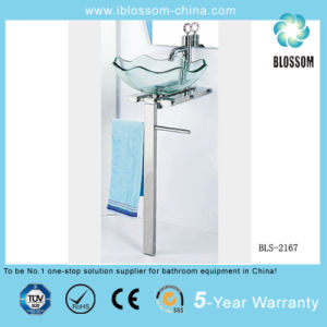 Tempered Glass Top Bathroom Furniture (BLS-2167) pictures & photos
