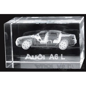 Custom Design Crystal 3D Inner Laser Engraving Cube pictures & photos