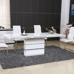 High Glossy Paiting Wooden Dining Table with PU Chair (ET67 & EC73)
