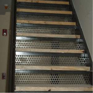 Perforated Metal Sheet for Stair Tread