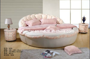 Bedroom Furniture Set Elegant Round Bed Shaped pictures & photos
