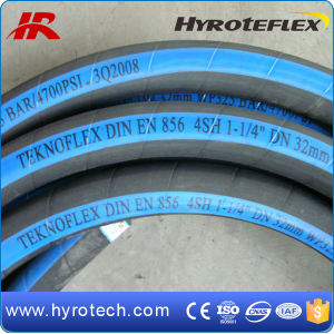 Hydraulic Hose DIN En856 4sp/Wire Spiral High Pressure Rubber Hose pictures & photos