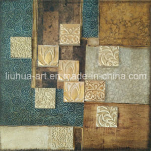 Mosaic Decoractive Oil Painting for Drawing Room Wall Deco (LH-136000)