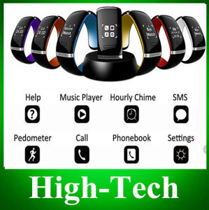 Wholesale L12s OLED Bluetooth 3.0 Bracelet Wrist Watch Smart Watch for Ios iPhone Samsung Android Phone Call Answer/SMS Remind