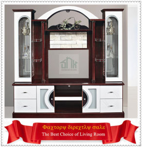 Foshan City Shunde Living Room Furniture Wood Lcd Tv Wall Units