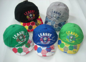 Hot Fooltball Child Baseball Cap with Embroidery and Printing Logo