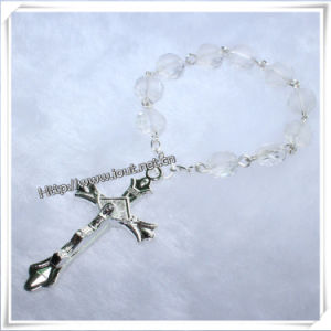 Transparent Glass Beads Finger Rosary with Cross (IO-CE005) pictures & photos