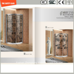 Four Color High Temeprature Screening Print Glass for Shower Cabin pictures & photos