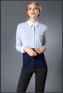 Latest New Models of Fabric Summer Blouse, Office Ladies Wear Bouse pictures & photos