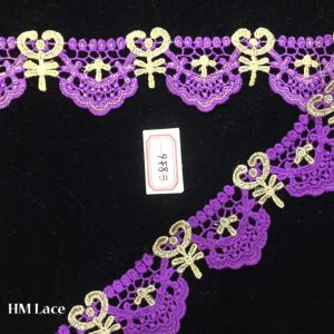 4.5cm Purple Thin Venice Lace Trim, Crochet Bridal Veil Wedding Trim Fabric Hme856 pictures & photos