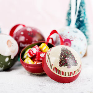 Christmas Tin Ball for Candy pictures & photos