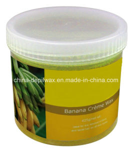 425g Jar Soft Depilatory Wax Banana Flavor Creme Wax pictures & photos