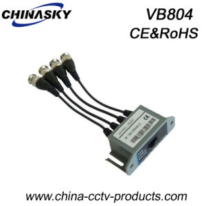 4CH CCTV Passive Video Balun Video Transceiver for Security (VB804) pictures & photos